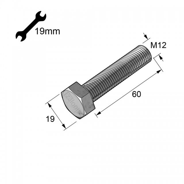 HEXAGON HEAD STEEL BOLT M12x60
